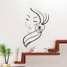 Makeup Wall Decal Vinyl Sticker Decals Art Home Decor Design Mural Make up Girl Woman Fashion Cosmetic Hairdressing Hair Beauty Salon
