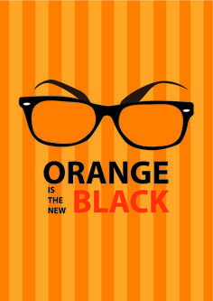 minimalist poster orange is the new black - Google Search