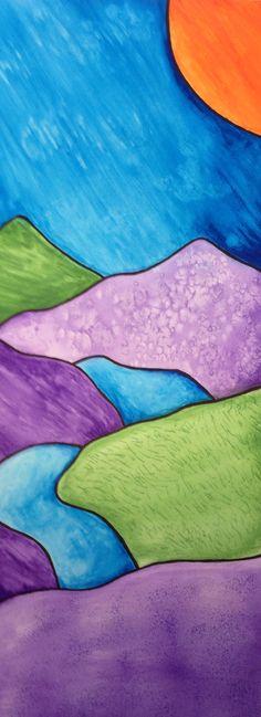 Landscape Art For Kids Watercolor Techniques Super Ideas Kids Watercolor, Watercolor Landscape, Abstract Watercolor, Watercolor Paintings, Watercolors, Landscape Drawings, Landscape Illustration, Landscape Art, Landscapes