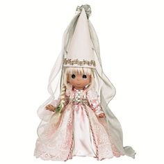 Inspired by the Children's Classic Tale of Rapunzel, this amazing Precious Moments doll is dressed in a flowing gown with a hit fit for a princess! Description from flossiesgifts.com. I searched for this on bing.com/images