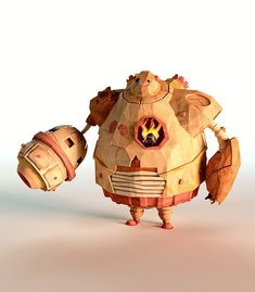 Szulik stuck closely to the brief, which was to create a paper-style, low-poly world inhabited with various creatures and characters.