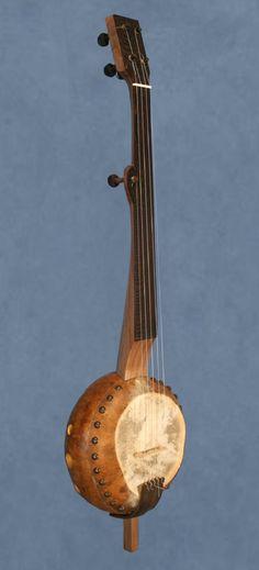 Gourd banjo Old Musical Instruments, Homemade Instruments, Hand Painted Gourds, Cigar Box Guitar, Pulsar, Gourd Art, Mandolin, Banjo, Cool Artwork