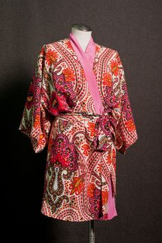 Silk kimono made with 4-ply silk crepe from designer Thakoon's spring 2012 RTW collection. #moodfabrics
