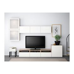 Most latest and graceful TV wall designs. Living room tv Storage Create this coo… Most latest and graceful TV wall designs. Living room tv Storage Create this cool concept in your favorite room. Tv Wall Design, Tv Unit Design, Tv Ikea, Muebles Living, Tv Wall Decor, Wall Tv, Ikea Living Room, Tv Storage, Ikea Hacks