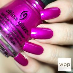 Image via   Beautiful Wedding Fuchsia Nail Art