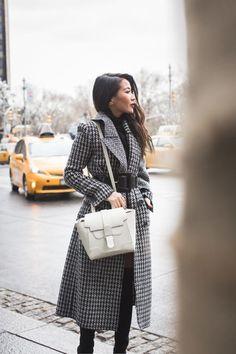 Winter Classics :: Plaid coat & White bag