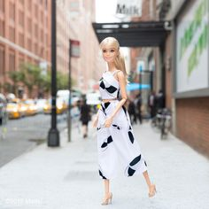 Outside @Milk strutting in the @tibi look I picked up from @shopbazaar!  #nyfw #barbiexBAZAAR #barbie #barbiestyle