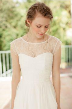 SADONI top - NORI lace insert top matches dress Nolia and Noelle (www.sadoni.no)