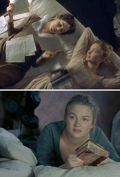 Mansfield Park Starring: Frances O'Connor as Fanny Price and Sophia Myles as Susan Price. At home, Fanny is reunited with her younger sister Susie, with whom she had been corresponding since she arrived at Mansfield. Jane Austen Book Club, Jane Austen Movies, Frances O'connor, Sophia Myles, Mansfield Park, Cinema, Miss Marple, Por Tv, Historical Romance