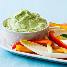 4-Ingredient Creamy Avocado-Cilantro Dip. This almost-instant app is great for a last-minute party—or for nibbling poolside.
