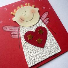 přání ANDÍLEK / Zboží prodejce gagaga | Fler.cz Christmas Arts And Crafts, Santa Crafts, Winter Crafts For Kids, Diy Christmas Cards, Cork Crafts, Xmas Crafts, Christmas Angels, Kids Christmas, Christmas Decorations