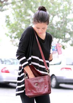 selena gomez purses  | Pics of Selena Gomez Leather Messenger Bag (9 of 16) - Selena Gomez ...
