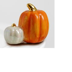 """Ceramic Pumpkin Mini - Unload the clutter in your cabinets, simplify your life, and entertain with style! Choose one (or several) """"Mini's"""" to decorate your platter.  Ceramic is dishwasher and microwave safe!"""