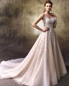 Browse the latest collections from Enzoani Luxury Bridal Wear wedding dresses & gowns. Search by silhouette, price, color, neckline, & more. Find your dream dress. Elegant Wedding Dress, Dream Wedding Dresses, Bridal Dresses, Wedding Gowns, Wedding Bride, Wedding Ideas, Dresses Uk, Bridal Reflections, Wedding Dress Pictures