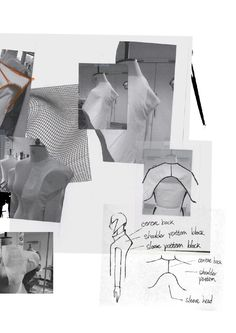 Portfolio - [Dislocation] by SHAWN YANG : Fashion Sketchbook - pattern cutting & sketches; Sketchbook Layout, Textiles Sketchbook, Sketchbook Pages, Fashion Sketchbook, Fashion Sketches, Mode Collage, Magazin Covers, Illustration Mode, Art Illustrations