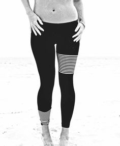 What's black and white and worn all over. These bad boys. [[MORE]] Let's all take a moment to give Danny at Salt Gypsy a virtual bear hug for her Bespoke Surf Leggings. (AKA the original surf leggings, which were made after 3 years of research while working on a surf charter in the Maldives.) These beauties make me do a happy dance, in and out of the water, on a wave, in yoga class…or just covered in sand.