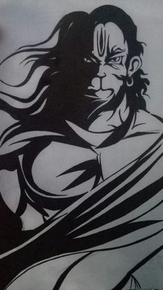 Pencil Drawings Of Flowers, Dark Art Drawings, Art Drawings Sketches Simple, Hanuman Pics, Hanuman Images, Jai Hanuman, Ganesha Sketch, Shiva Sketch, Lord Ganesha Paintings