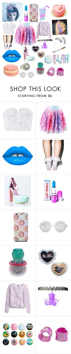 """Melanie Martinez : Cake"" by faiththewizard ❤ liked on Polyvore featuring Lime Crime, Leg Avenue, Forever 21, H&M and e.l.f."
