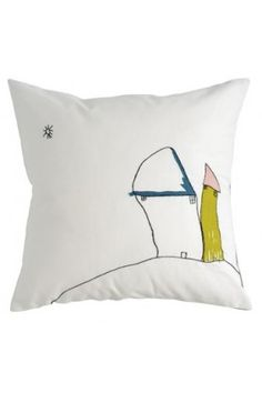 Make throw pillows out of artwork - great for gifts!