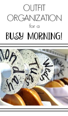 No more struggling to figure out what to wear in the morning with these easy to make DIY outfit organizers!       how to organize your closet, organize your clothes, how to plan your outfits, etc.