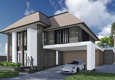 Villa V - Interieur Architektur Villa, Charming House, Sims 4 Houses, House Goals, Modern House Design, My Dream Home, Modern Architecture, Future House, Beautiful Homes