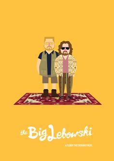 The Big Lebowski poster by Olaf Cuadras