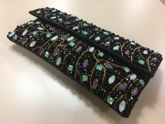 Bullion Embroidery, Beaded Clutch, Purses, Girls, Fashion, Bags, Clutch Bags, Embroidery, Handbags