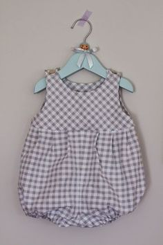 baby romper made from a Style pattern from 1984