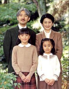 Prince and Princess Akishino and their daughters, Princess Mako and Princess Kako