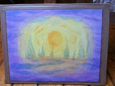day 3 of Creation - water, land, plants Wet On Wet Painting, Painting & Drawing, Watercolor Paintings, Grade 3, Third Grade, Old Testament, Painting Inspiration, Curriculum, Stage
