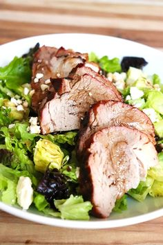 Grilled Pork Loin Salad {Keto-Friendly} ⋆ Homemade for Elle