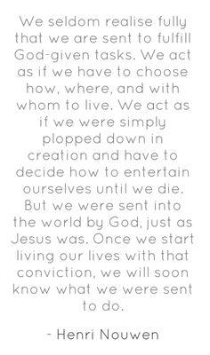 Living according to God's plan..