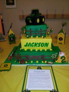 Tractor Birthday Cake