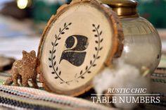 DIY Rustic-Chic TableNumbers