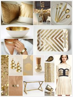 Gold and Cream Inspiration Board | CamilleStyles.com