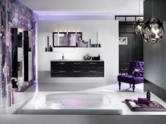 Bathroom decorating ideas lavender