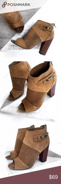 Dolce vita leather cutout peep toe booties Super chic! No trades. open to offers DV by Dolce Vita Shoes Heeled Boots