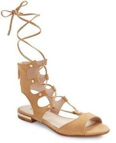 Louise et Cie Ashlyn Suede Lace-Up Sandals