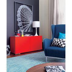 fuel red credenza in storage furniture | CB2 (mini bar)