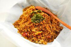 Sambal Kelapa - Indonesian Chili Salsa with Coconut - PisangSusu.com Veggie Recipes, Indian Food Recipes, Cooking Recipes, Healthy Recipes, Ethnic Recipes, Veggie Food, Cooking Tips, Dry Coconut, Coconut Flour