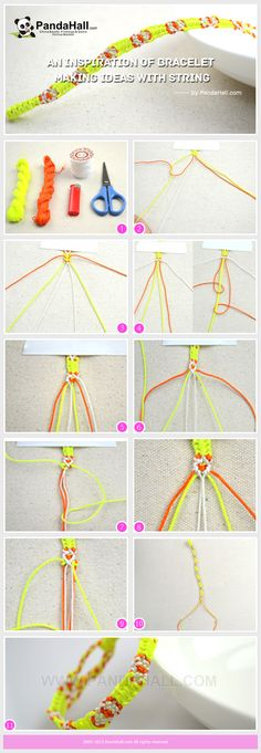 This is an inspiration of bracelet making ideas with string, and in this tutorial I will show you the friendship bracelet knots instructions in detail. So that with simple material and less cost, you can create a fantastic bracelet.