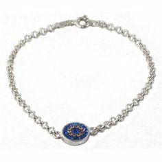 Cubic Zirconia Evil Eye Bracelet by Love & Lucky Love & Lucky. $60.00