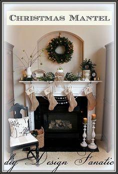 Christmas mantel by @diy Design Fanatic