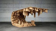 """Designer cria mesa inspirada no filme """"A Origem"""""""