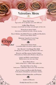 Tullamore Court Hotel - Valentines Menu!
