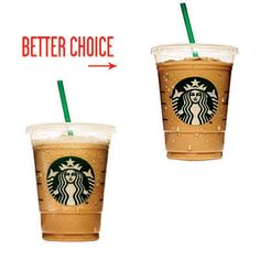 You can still save 100 calories: Instead of a vanilla frappuccino, order the iced vanilla latte Get Healthy, Healthy Snacks, Healthy Recipes, Healthy Habits, Healthy Tips, 100 Calories, Healthy Options, Healthy Alternatives, 100 Calorie Meals