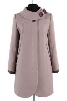 Пальто женское демисезонное Кашемир Бежево-коричневый