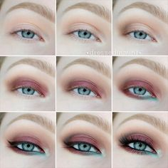 Dressed in Mint: make up. - Burlesque / step by step