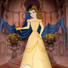 Belle and 8 other princess paper dolls.  Printable.