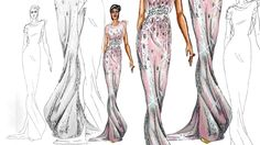 On the Runway/ Catwalk pose: Fashion  Illustration